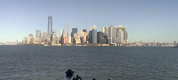 Solourlaub: Staten Island Ferry. Blick auf Manhatten
