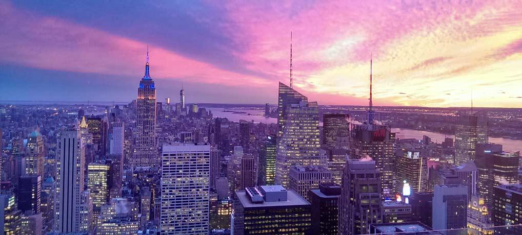 New York City , Singleurlaub, Flüge, Singlereisen, Sonnenuntergang