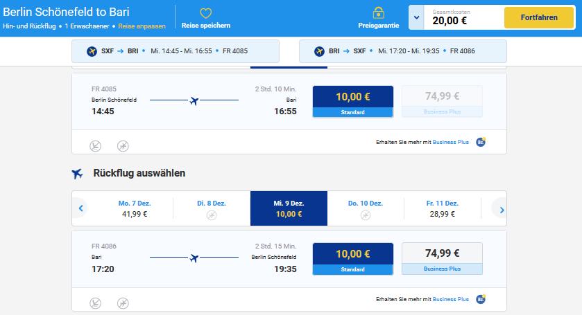 Flüge nach Bari Italien mit RyanAir, Singleurlaub Kurztrip