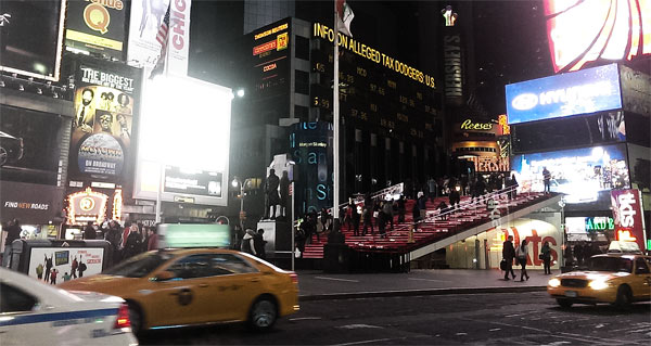 New York Times Square Treppe