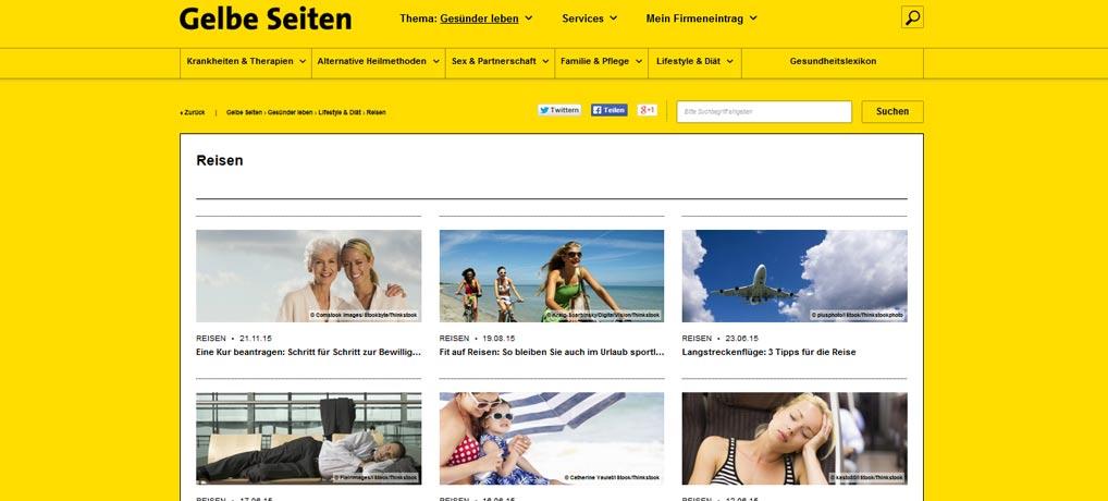 Gelbe Seiten Reisen Tipps. www.gelbeseiten.de
