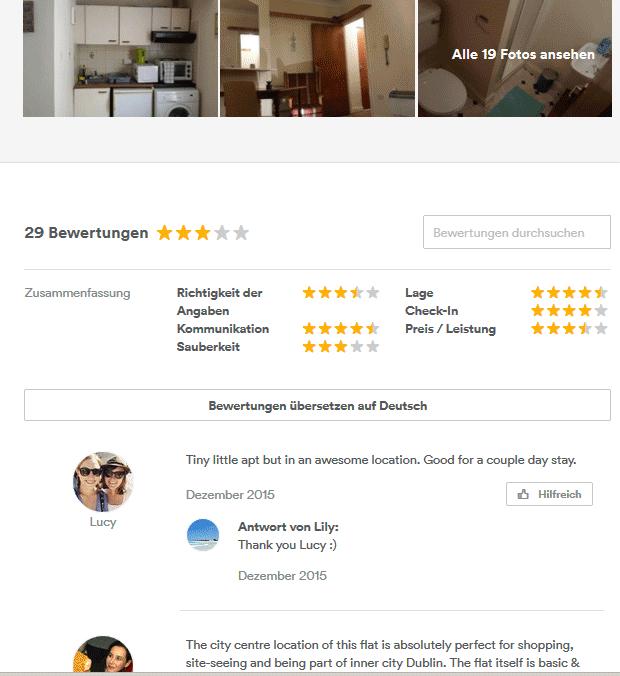 airbnb Tipps, Unterkünfte, Urlaub, Hostel, Bewertung, Preis