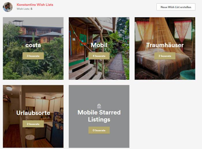 airbnb tipps, Singleurlaub, airbnb wishlist