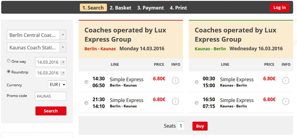 Litauen, Kaunas, Singlereise, Fernbus, Busunternehmen, Baltikum
