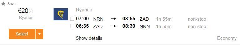 Flüge nach Kroatien, Zadar, Pula, Ryanair, Berlin, Weeze