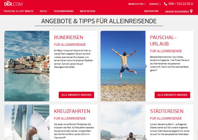 DER.com, DER, alleine verreisen, pauschalreisen, singleurlaub, singlereisen, traveller