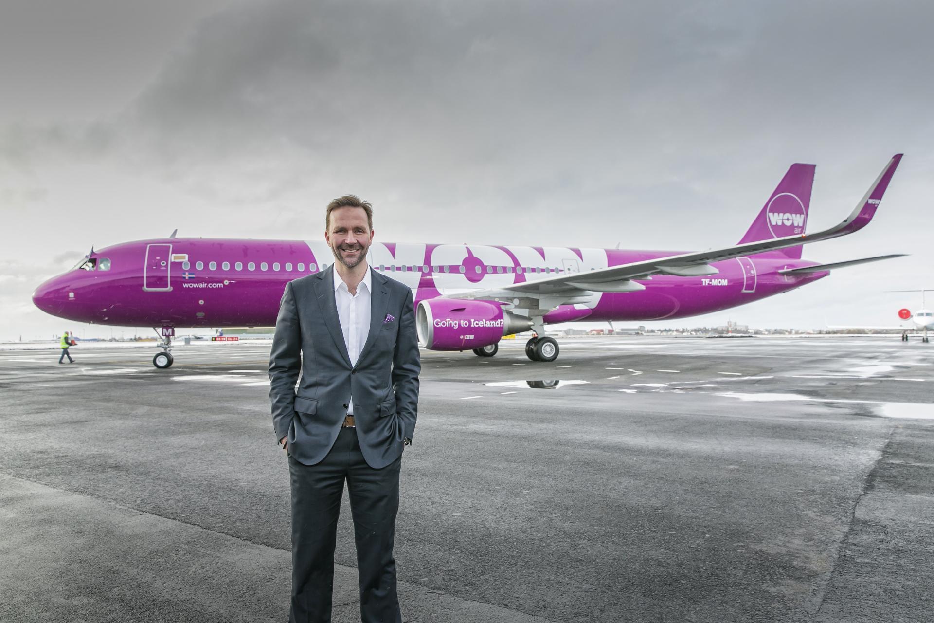 Skúli Mogensen, dem Geschäftsführer und Gründer von WOW air
