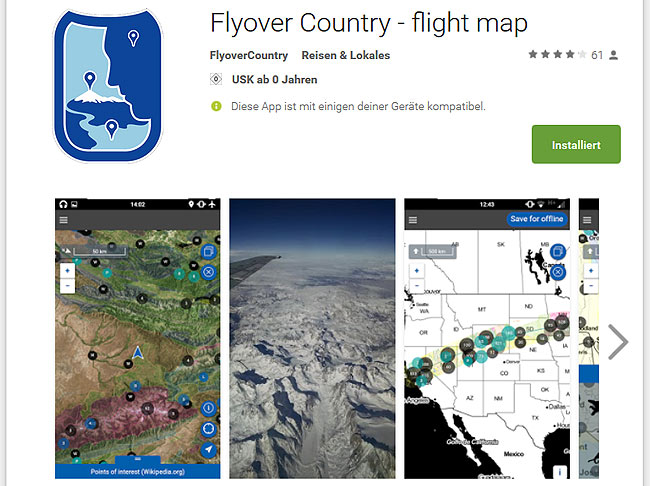 Flyover country app, mobil, travel, reiseapps, apps für reisen