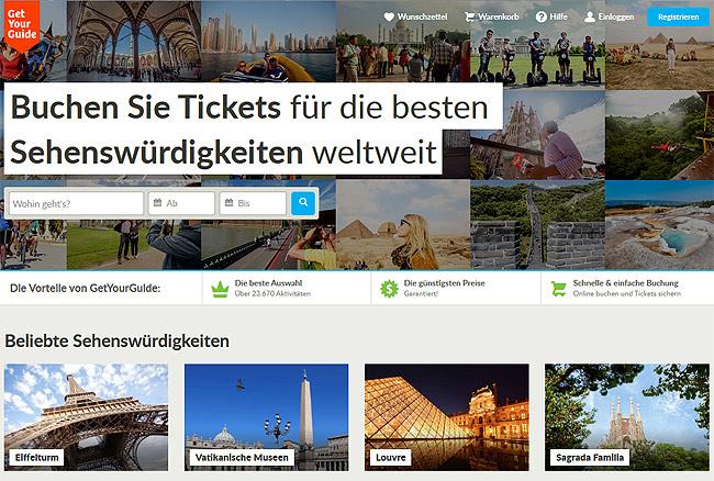 get your guide, app, urlaub, sehenswürdigkeiten