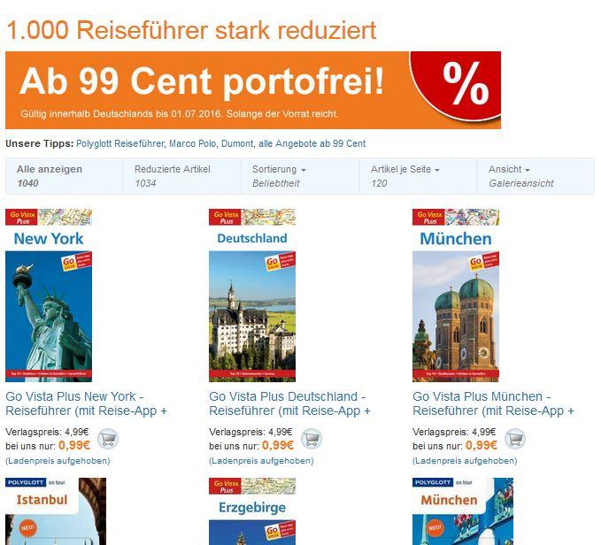 Reiseführer ab 0,99€ bei Terrashop.de