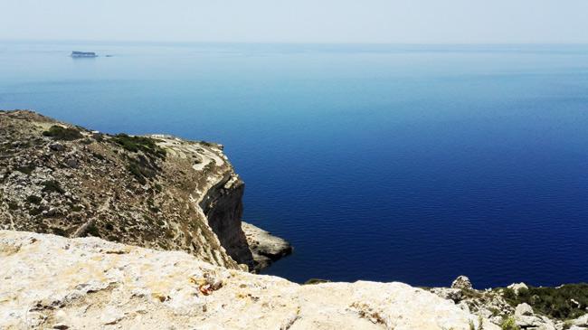 Die Dingli Cliffs bilden den höchsten Punkte Maltas, nur um dann steil ins Meer abzufallen