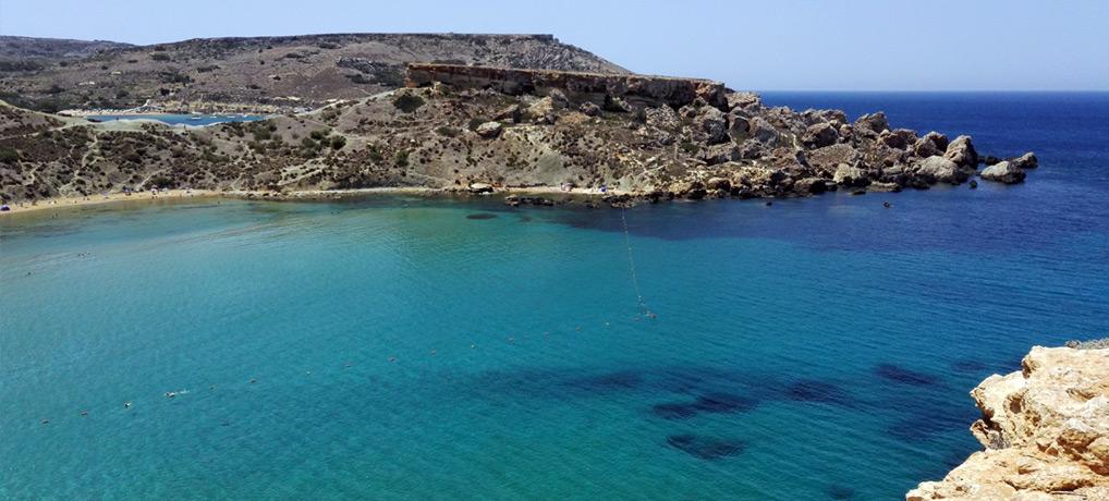 Malta Urlaub für alleinreisende, baden, golden Bay