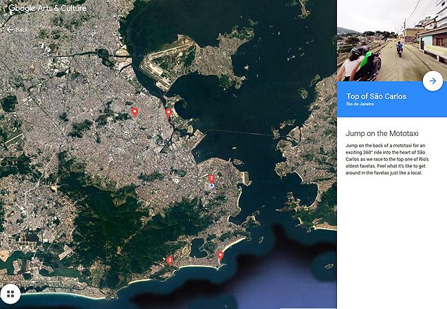 google, rio, singleurlaub, singlereisen, beyond the map, virtual 360° video