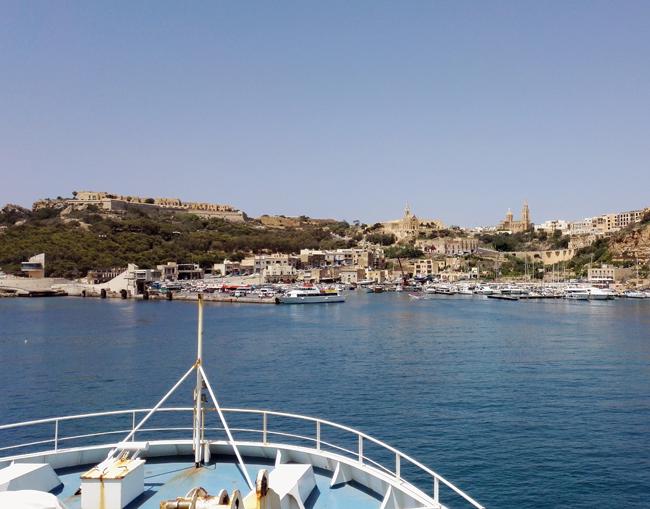 Einfahrt in den Hafen von Gozo, Malta