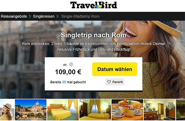 Singleurlaub, Singletrip nach Rom, mit Flügen