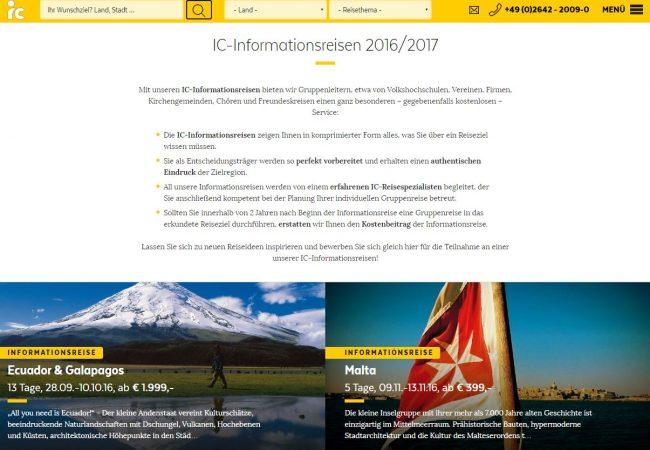 informationsreisen, gruppenreisen, ic, vhs, verein reisen