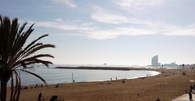 strand, barcelona, urlaub, reisen, travel