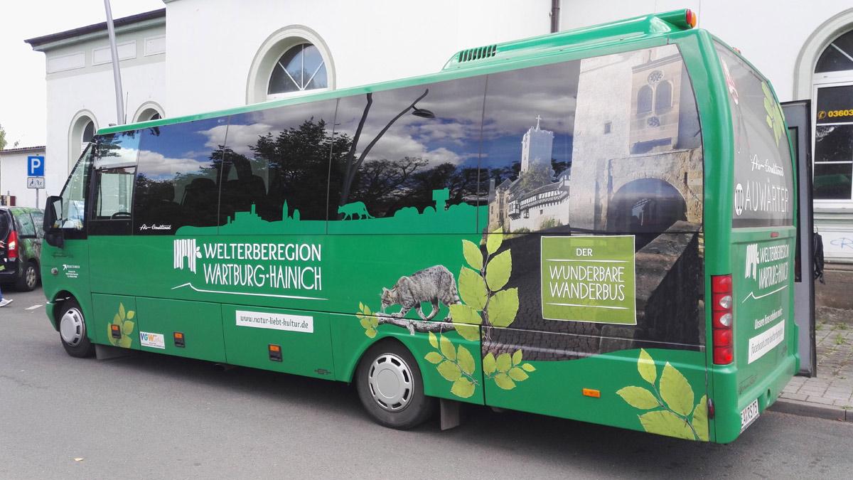 """Der """"Wunderbare Wanderbus"""" hält auch am Nationalpark Hainich"""