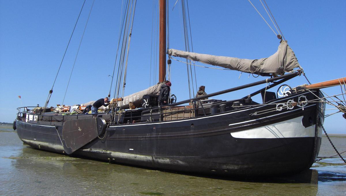 ijssellmeer holland niederlande plattbodenschiff wattenmeer