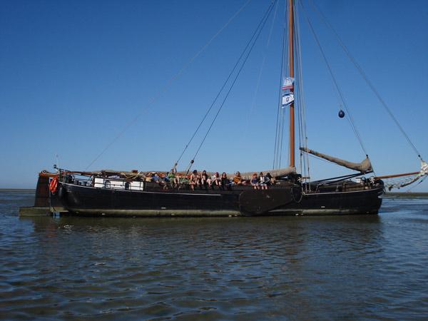 segeln wattenmeer holland plattbodenschiff