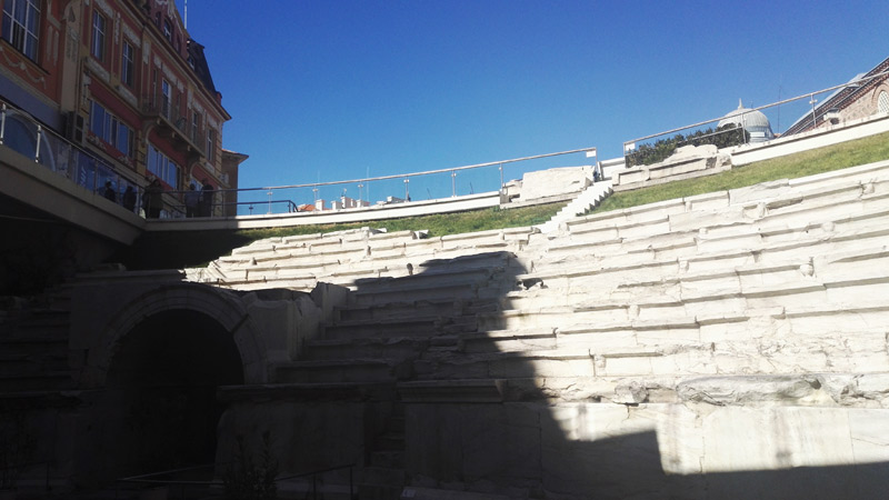 antikes Stadion Plovdiv Bulgarien