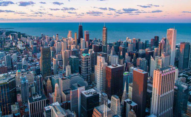 chicago skyline, billige fülge usa, toronto, wow air