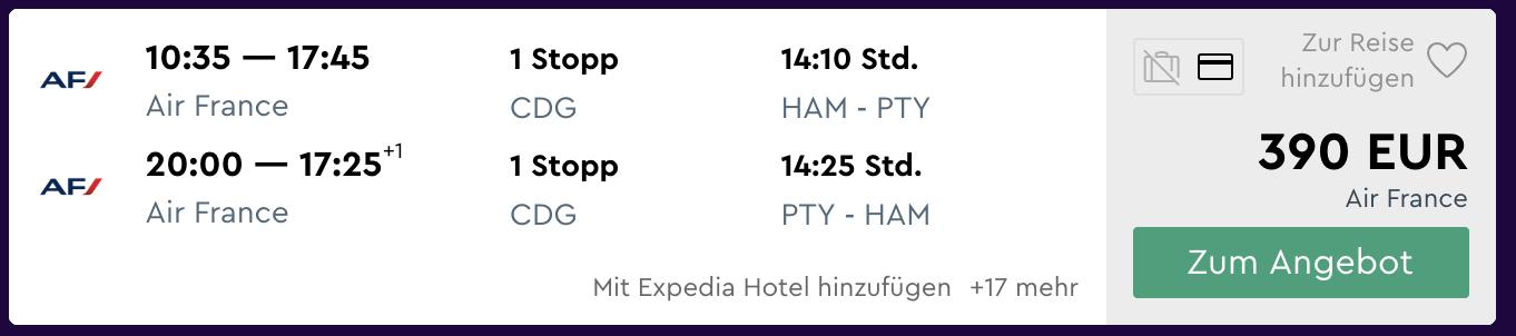 billige flüge, flug deals von hamburg nach panama finden