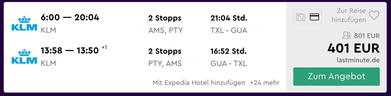 flüge nach guatemala ab berlin